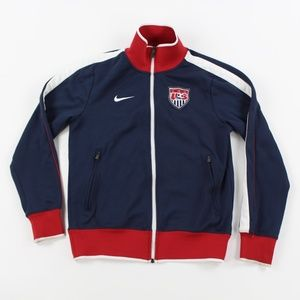 Nike USA Men's Soccer Team Spellout Track Jacket S